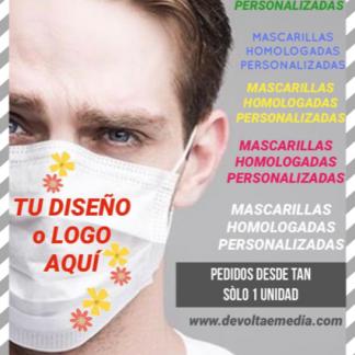 PERSONALIZA mascarillas homologadas y estuches pvc con tu diseño